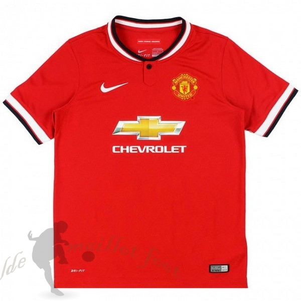 Tee Shirt Foot Pas Cher Nike Domicile Maillot Manchester United Rétro 2014 2015 Rouge