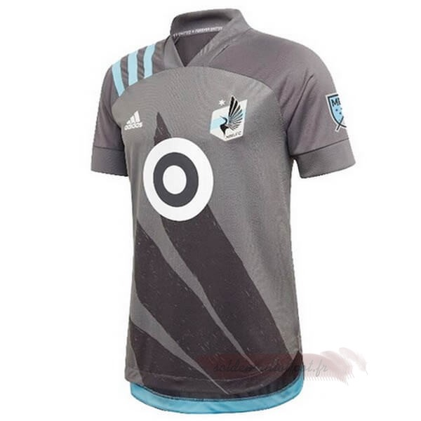 Tee Shirt Foot Pas Cher adidas Domicile Maillot Minnesota United 2020 2021 Gris