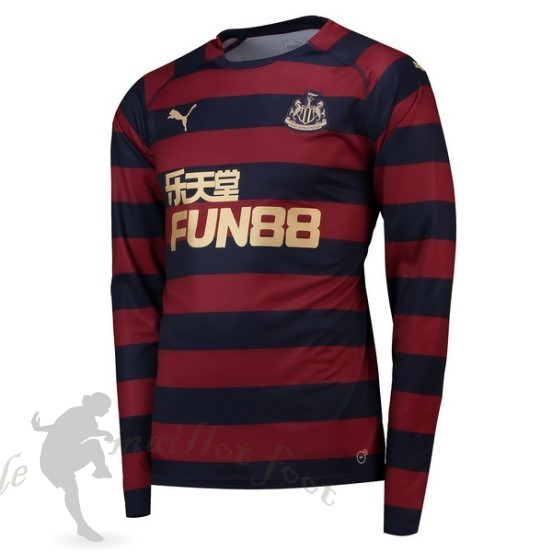 Tee Shirt Foot Pas Cher Puma Exterieur Manches Longues Newcastle United 2018 2019 Rouge
