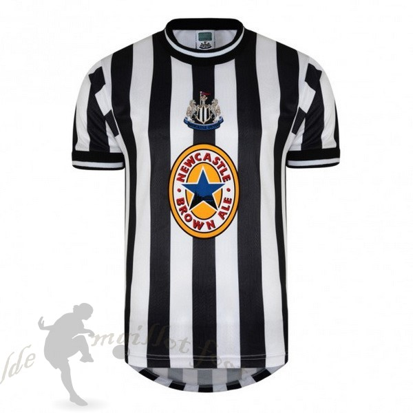 Tee Shirt Foot Pas Cher adidas Domicile Maillot Newcastle United Retro 1997 1998 Noir Blanc
