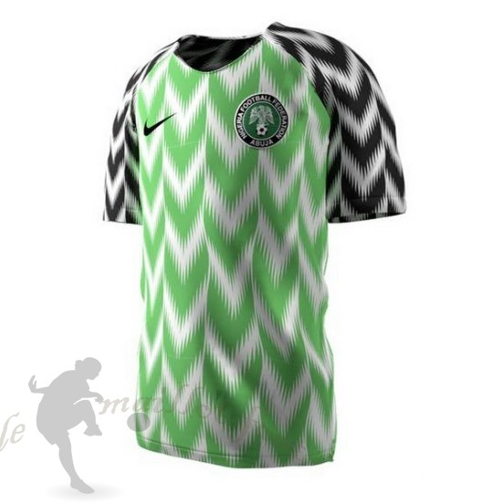 Tee Shirt Foot Pas Cher Nike Domicile Maillot Nigeria 2018 Vert