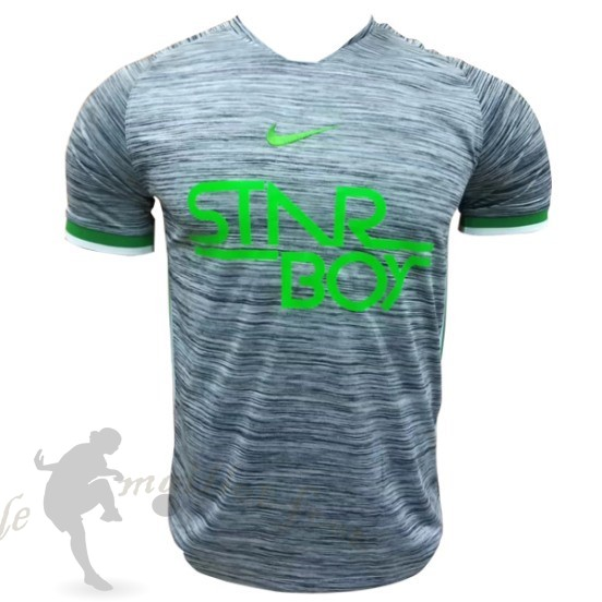 Tee Shirt Foot Pas Cher Nike Entrainement Nigeria 2018 Gris