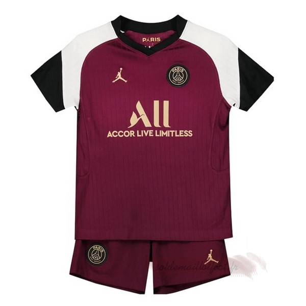 Tee Shirt Foot Pas Cher JORDAN Third Conjunto De Enfant Paris Saint Germain 2020 2021 Bordeaux