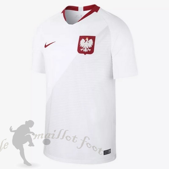 Tee Shirt Foot Pas Cher Nike Domicile Maillot Pologne 2018 Blanc