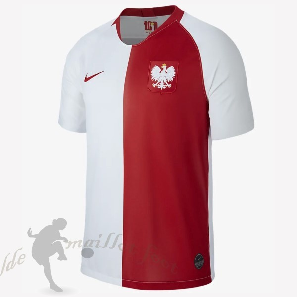 Tee Shirt Foot Pas Cher Nike Maillot Pologne 100th Blanc Rouge