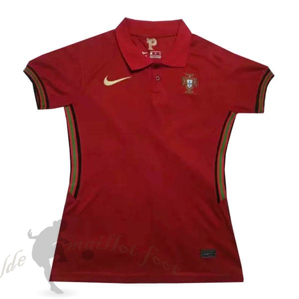 Tee Shirt Foot Pas Cher Nike Domicile Maillot Femme Portugal 2020 Rouge