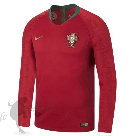 Tee Shirt Foot Pas Cher Nike Domicile Manches Longues Portugal 2018 Rouge