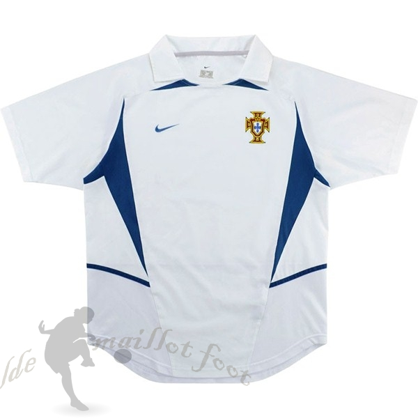 Tee Shirt Foot Pas Cher Nike Exterieur Maillot Portugal Retro 2002 Blanc