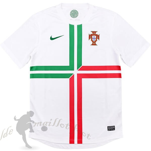 Tee Shirt Foot Pas Cher Nike Exterieur Maillot Portugal Retro 2012 Blanc