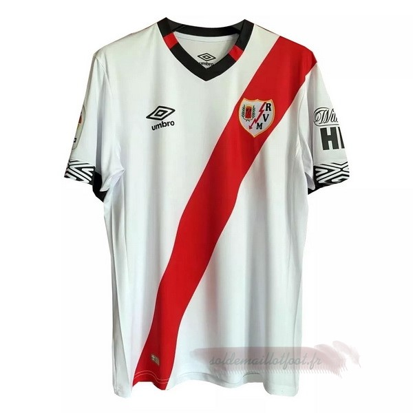 Tee Shirt Foot Pas Cher umbro Domicile Maillot Rayo Vallecano 2020 2021 Blanc Rouge