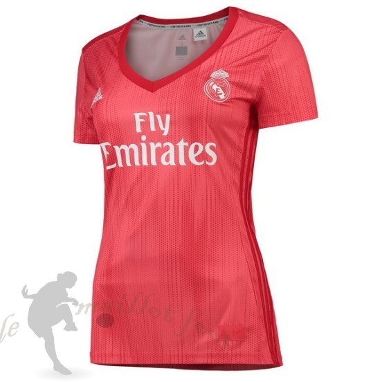 Tee Shirt Foot Pas Cher Adidas Third Maillot Femme Real Madrid 2018 2019 Rouge