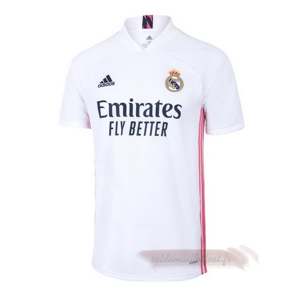 Tee Shirt Foot Pas Cher adidas Domicile Maillot Real Madrid 2020 2021 Blanc