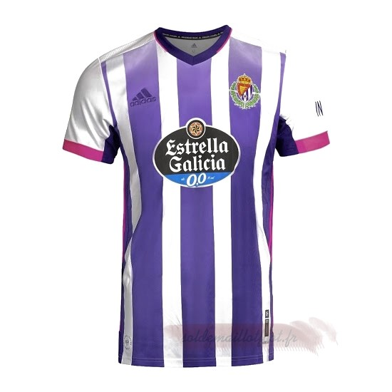 Tee Shirt Foot Pas Cher adidas Domicile Maillot Real Valladolid 2020 2021 Blanc Purpura