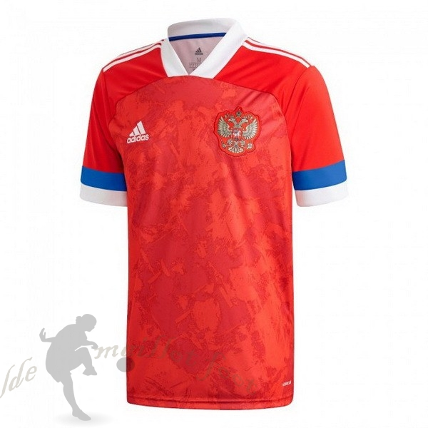Tee Shirt Foot Pas Cher adidas Domicile Maillot Russie 2020 Rouge