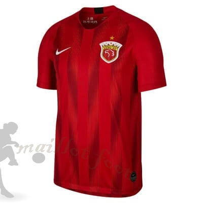 Tee Shirt Foot Pas Cher Nike Domicile Maillot SIPG 2019 2020 Rouge