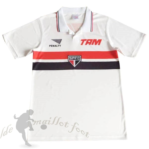 Tee Shirt Foot Pas Cher PENALTY Domicile Maillot São Paulo Retro 1994 Blanc