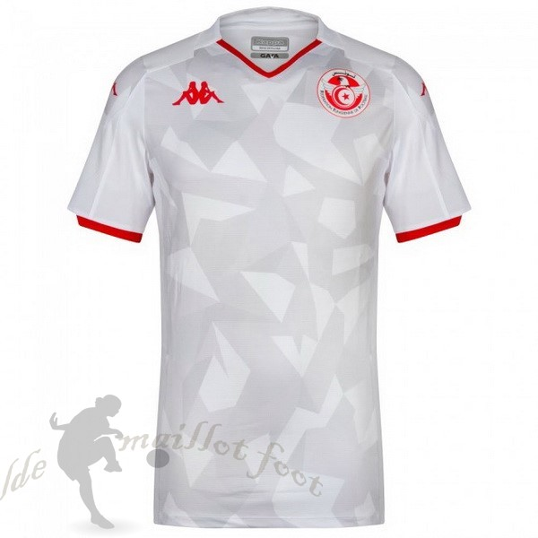 Tee Shirt Foot Pas Cher Kappa Domicile Maillot Tunisie 2019 Blanc