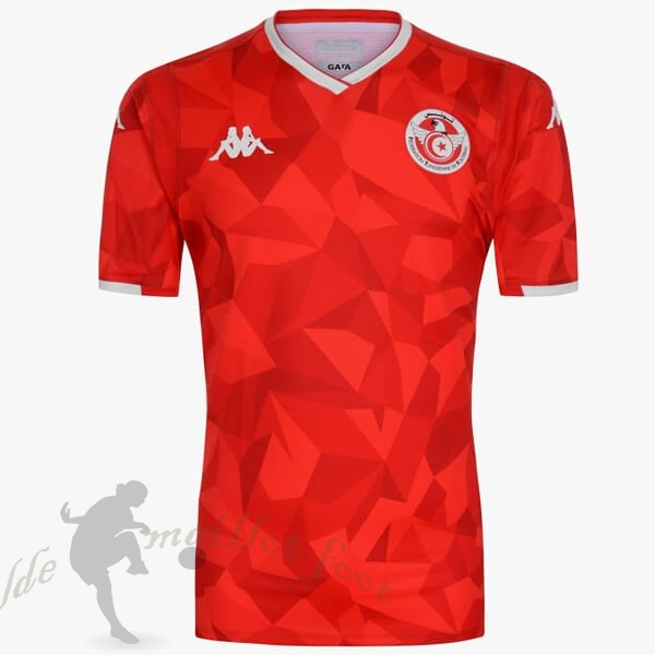Tee Shirt Foot Pas Cher Kappa Domicile Maillot Tunisie 2019 Rouge