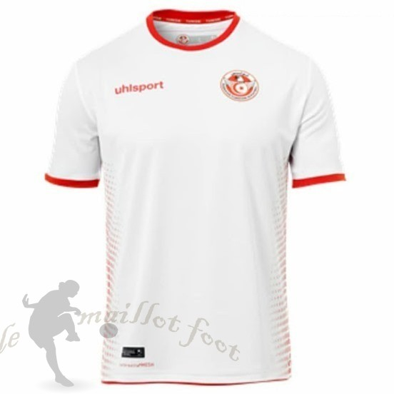 Tee Shirt Foot Pas Cher Adidas Domicile Maillot Tunisie 2018 Blanc
