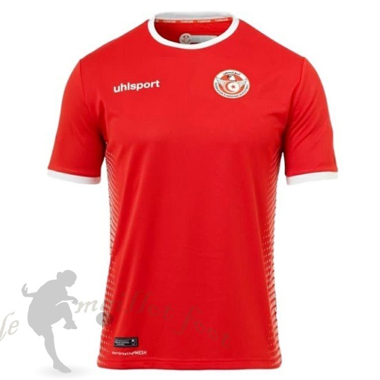 Tee Shirt Foot Pas Cher Adidas Exterieur Maillot Tunisie 2018 Rouge