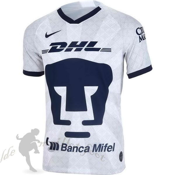 Tee Shirt Foot Pas Cher Nike Domicile Maillot UNAM Pumas 2019 2020 Blanc