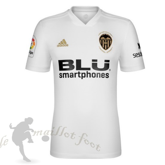 Tee Shirt Foot Pas Cher Adidas Domicile Maillot Valencia 2018 2019 Blanc