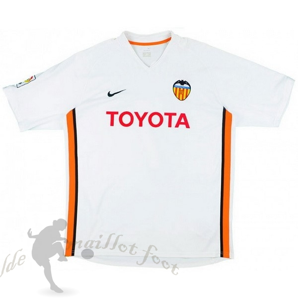 Tee Shirt Foot Pas Cher Nike Domicile Maillot Valence Rétro 2006 2007 Blanc