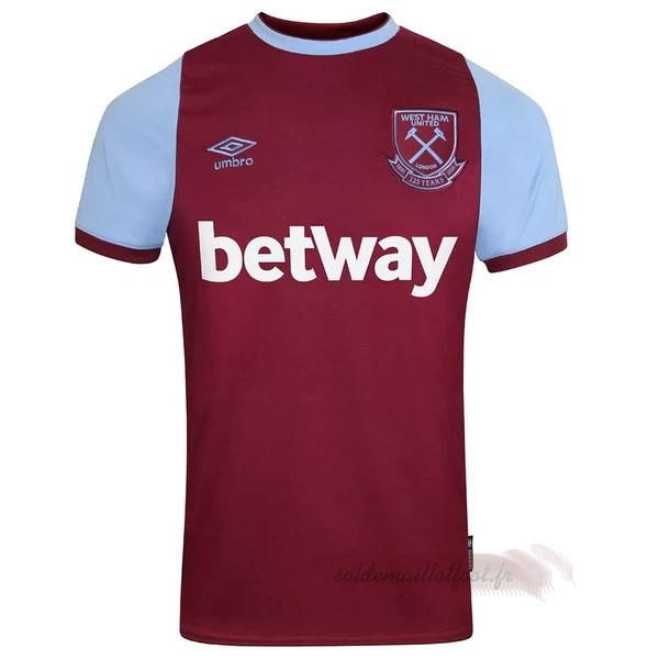 Tee Shirt Foot Pas Cher umbro Domicile Maillot West Ham United 2020 2021 Rouge